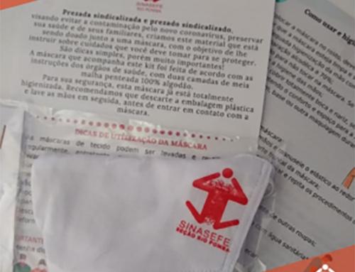 SINASEFE Rio Pomba envia máscaras de proteção aos sindicalizados